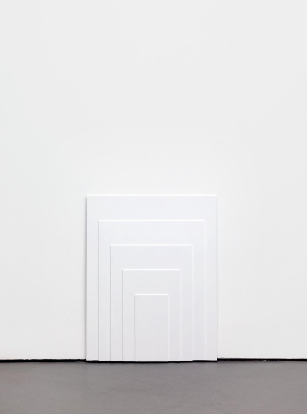 Lisa Williamson  Low Doorways  2011 Acrylic on steel 20 ½h x 16w in LW083