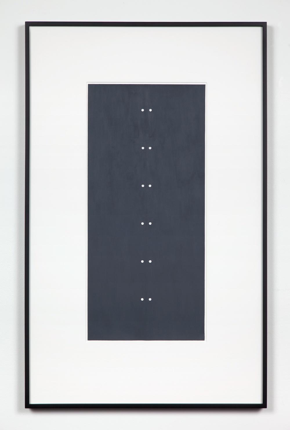 Lisa Williamson  Grey Eyelets  2011 Acrylic on paper 35h x 22w in LW080