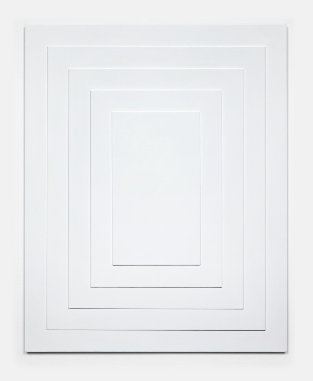 "Lisa Williamson White Doorways 2011 Acrylic on steel 31"" x 24"" LW078"