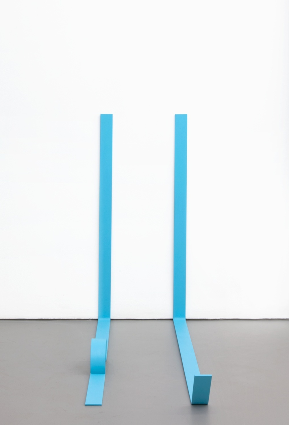 Lisa Williamson  Teal Legs  2011 Acrylic on steel 34h x 14w x 48d in LW076