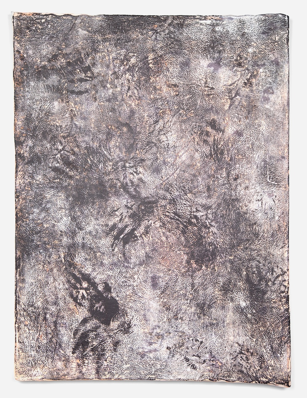 Jay Heikes  Sinks of Gandy  2011 Paper, aluminum, dry pigment, ink, and wood 49 ½h x 36 ⅞w in JH035