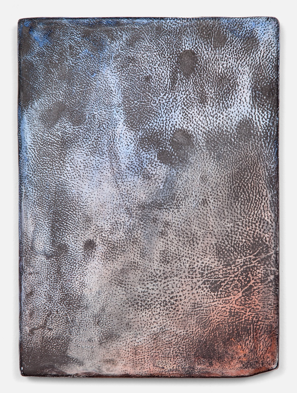 "Jay Heikes Mother Ludlam's 2011 Paper, aluminum, dry pigment, ink, and wood 14"" x 10 1/4"" JH033"