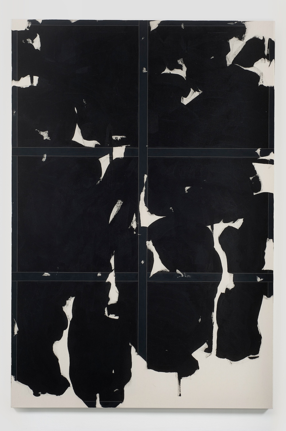 "Zak Prekop Untitled (Black) 2011 Oil on canvas 84"" x 57"" ZP140"