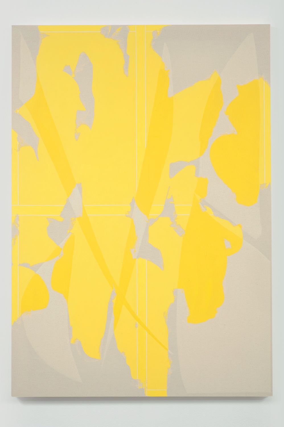 "Zak Prekop Yellow Transparency 2011 Oil on canvas 60"" x 42"" ZP142"