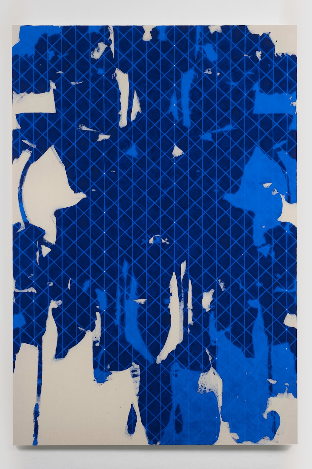 "Zak Prekop Untitled (Blue) 2011 Oil on canvas 84"" x 57"" ZP139"