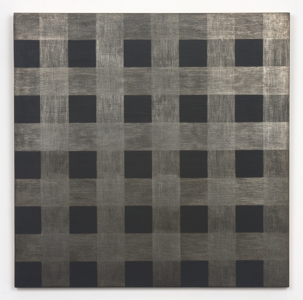 "Michelle Grabner Untitled 2010 Silver and gesso on panel 20"" x 20"" MGrab169"