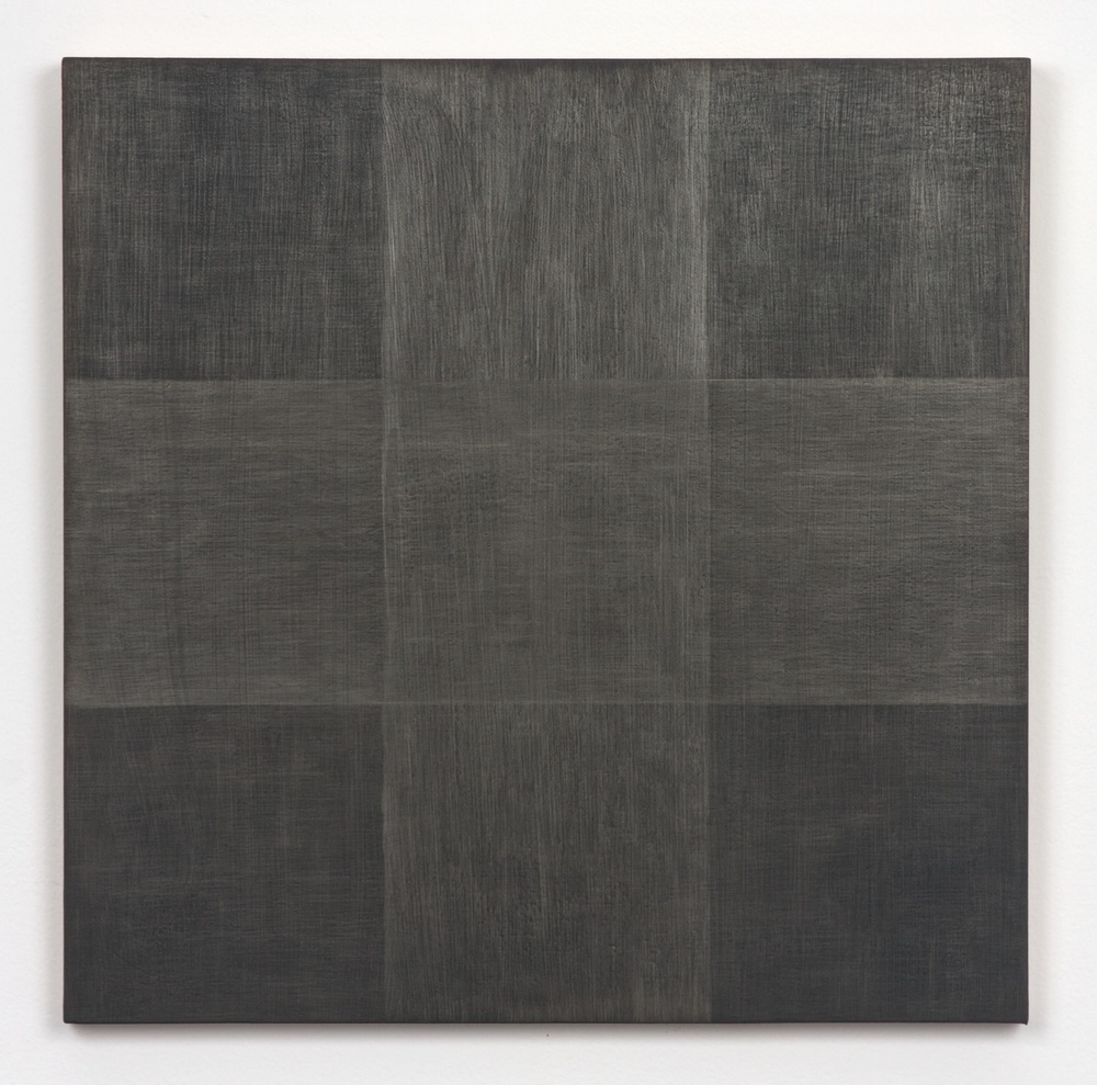"Michelle Grabner Untitled 2010 Silver and gesso on panel 15"" x 15"" MGrab178"
