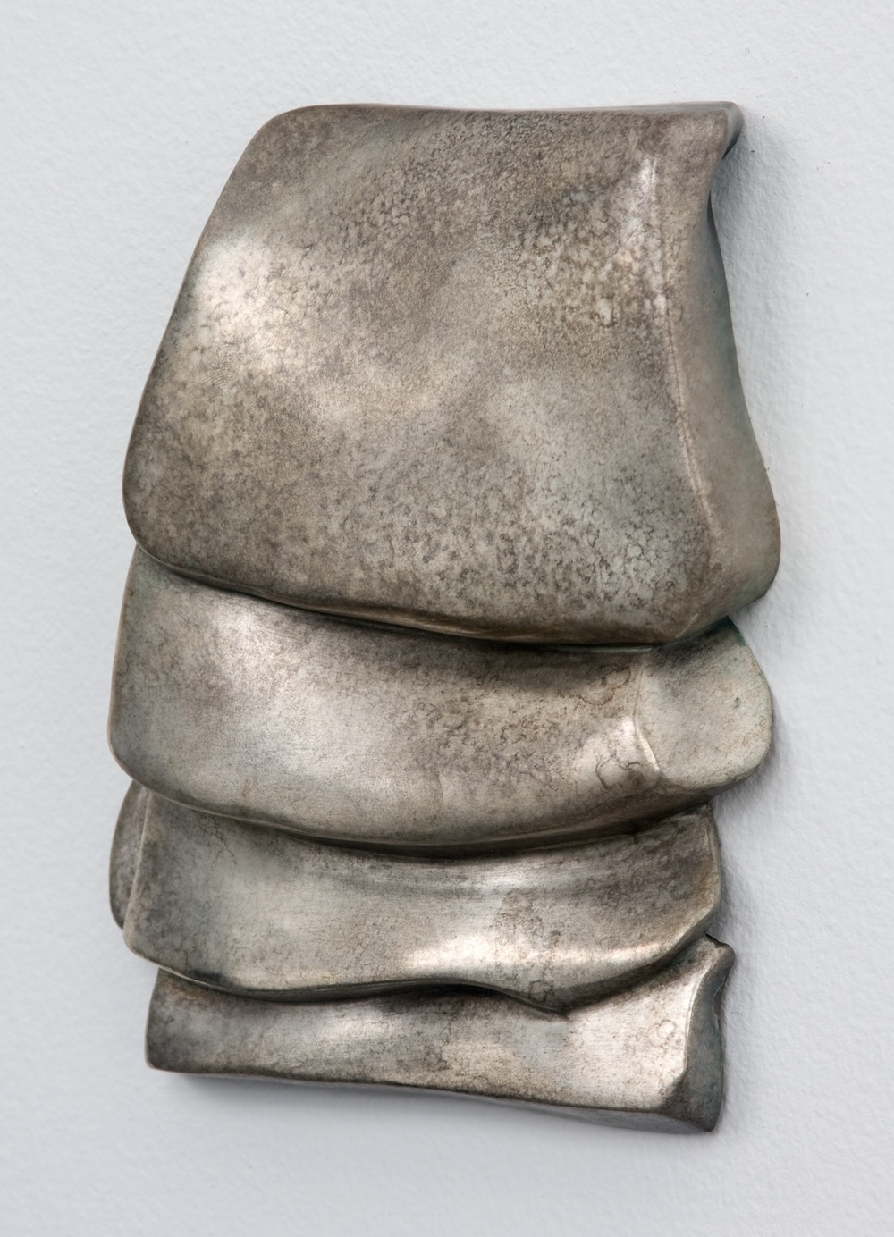 "Anthony Pearson Untitled (Tablet) 2010 Bronze sculpture with silver nitrate patina 17 1/2"" x 13 1/4"" AP244"