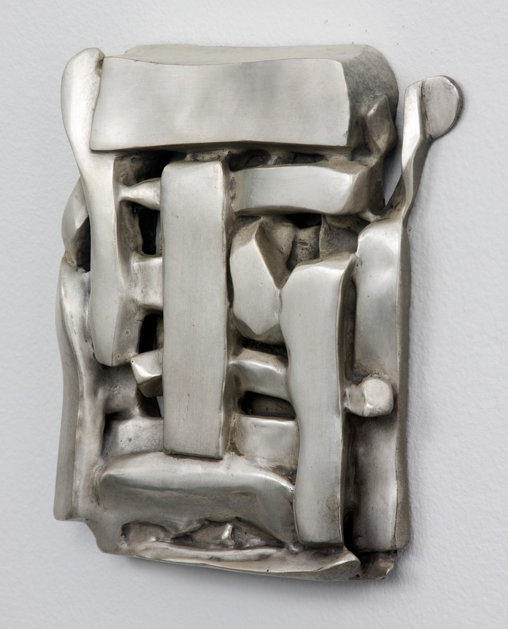 "Anthony Pearson Untitled (Tablet) 2010 Bronze sculpture with silver nitrate patina 17 1/2"" x 13 1/4"" AP243"