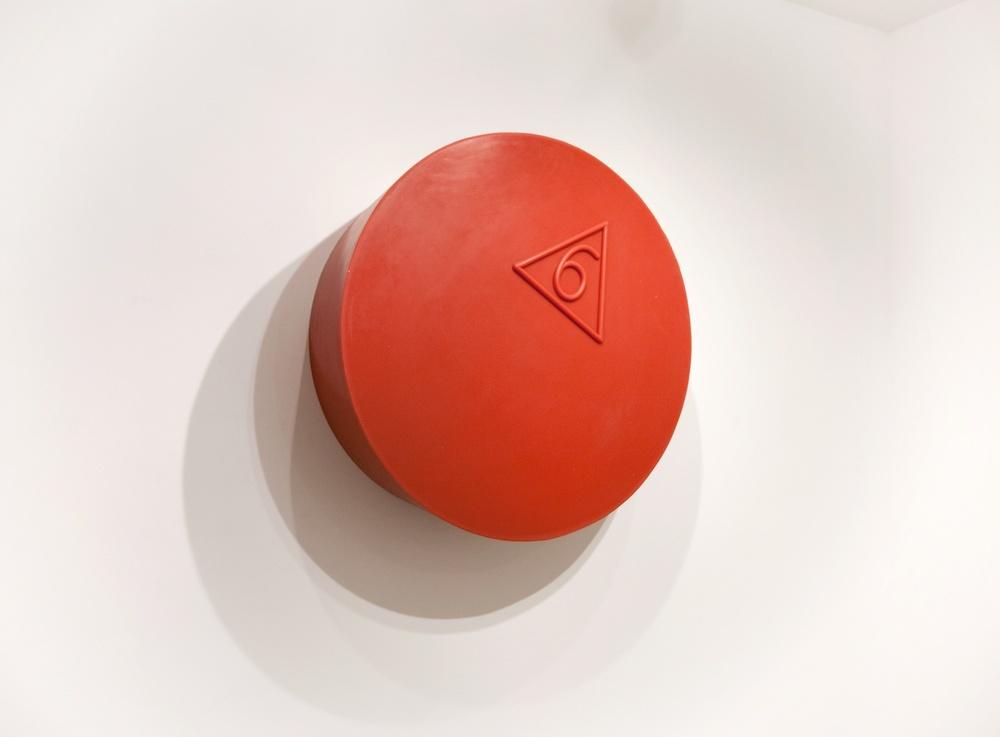 Martha Friedman  Stopper  2010 Rubber, pigment, wood 30h x 30w in MF002