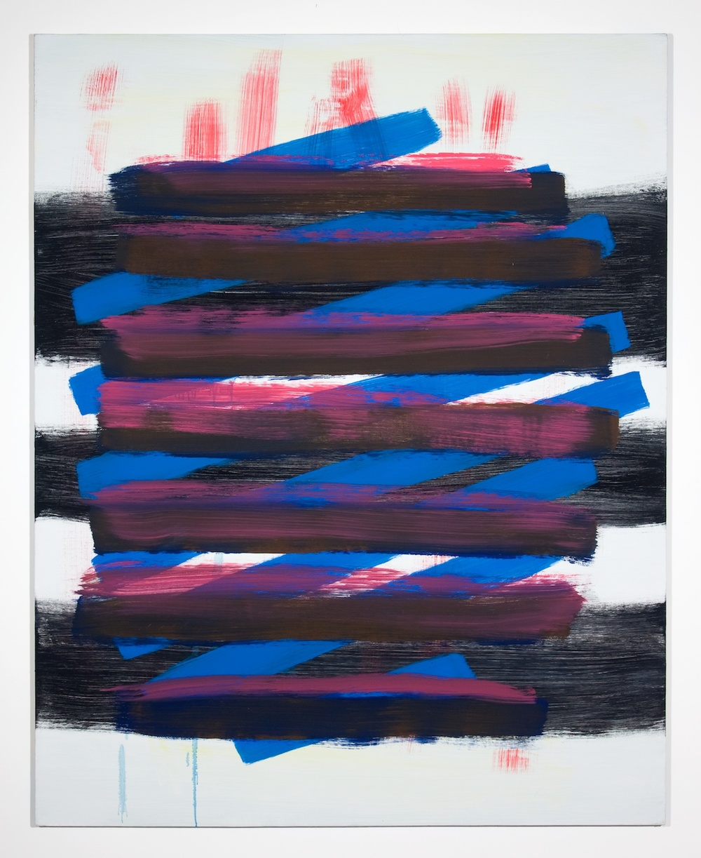 Jon Pestoni  Blue and Black Crossing  2010 Oil on canvas on panel 59 ¾h x 47 ½w in P036