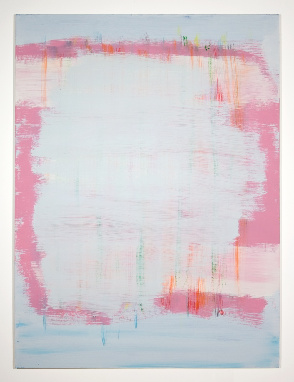 Jon Pestoni  Grey Smear  2010 Oil on canvas on panel 63 ½h x 47 ¼w in JP034