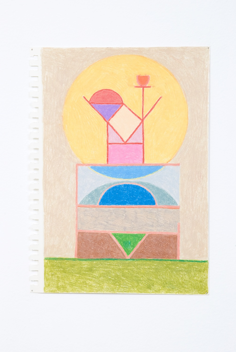 "Elijah Burgher Promise Delivery 2009 Colored pencil on paper 12"" x 8 EB013"