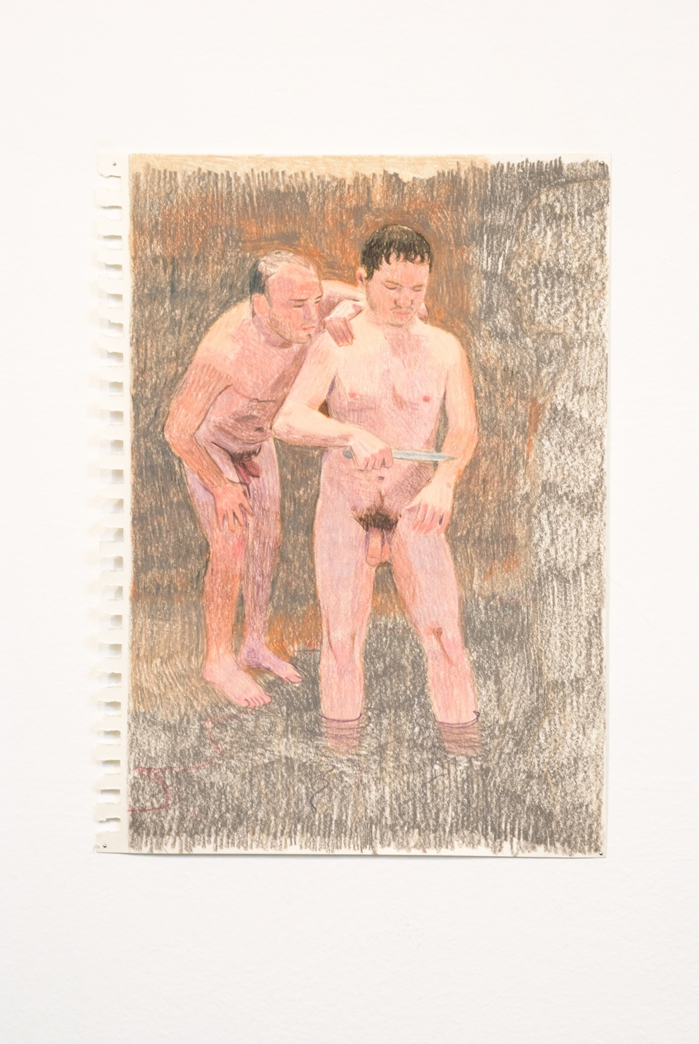 "Elijah Burgher The blood-letting 2 2010 Colored pencil on paper 8"" x 12"" EB008"