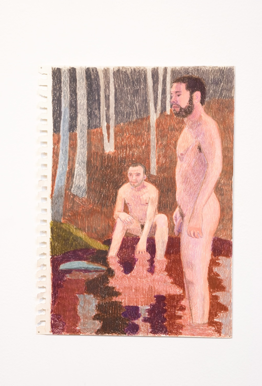 "Elijah Burgher The Blood-letting 3 2009 Colored pencil on paper 12"" x 8"" EB009"