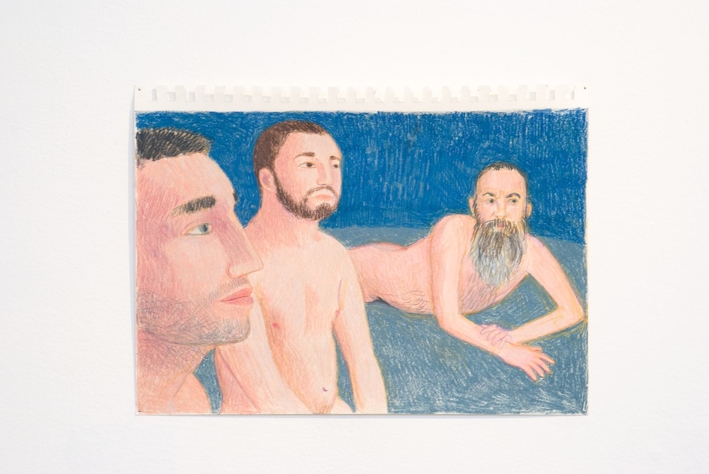 "Elijah Burgher After Invocation of the Queer Spririts (Governors Island 2) 2009 Colored pencil on paper 8"" x 12"" EB006"