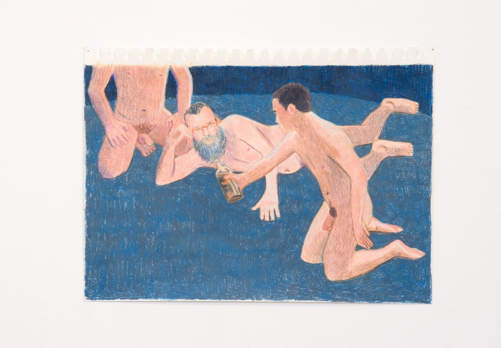 "Elijah Burgher After Invocation of the Queer Spirits (Governors Island 3) 2009 Colored pencil on paper 8"" x 12"" EB005"