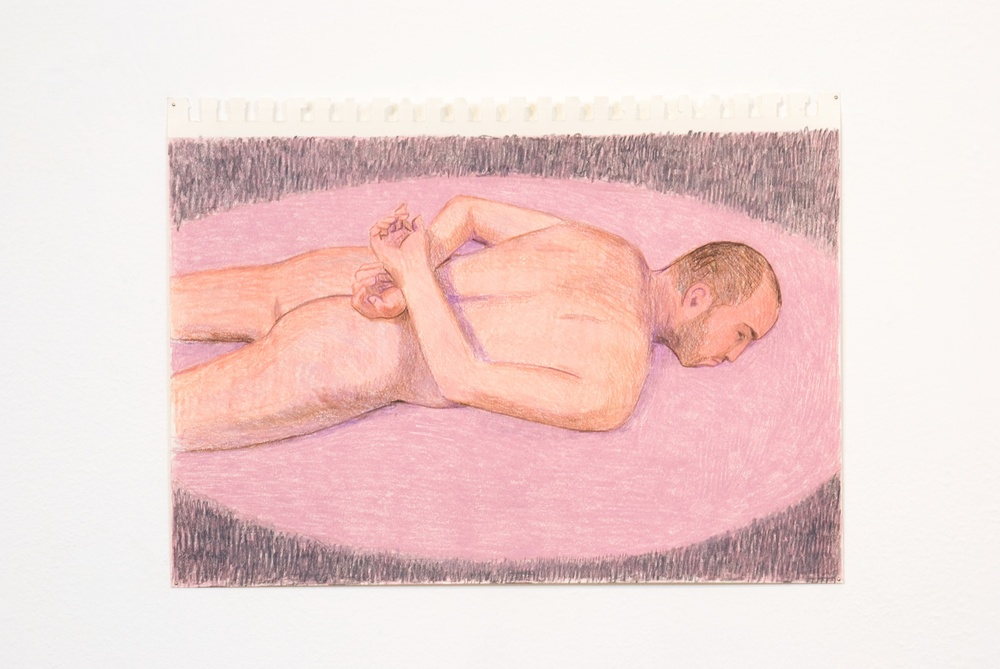 "Elijah Burgher JCDC as Sebastian 2009 Colored pencil on paper 8"" x 12"" EB003"