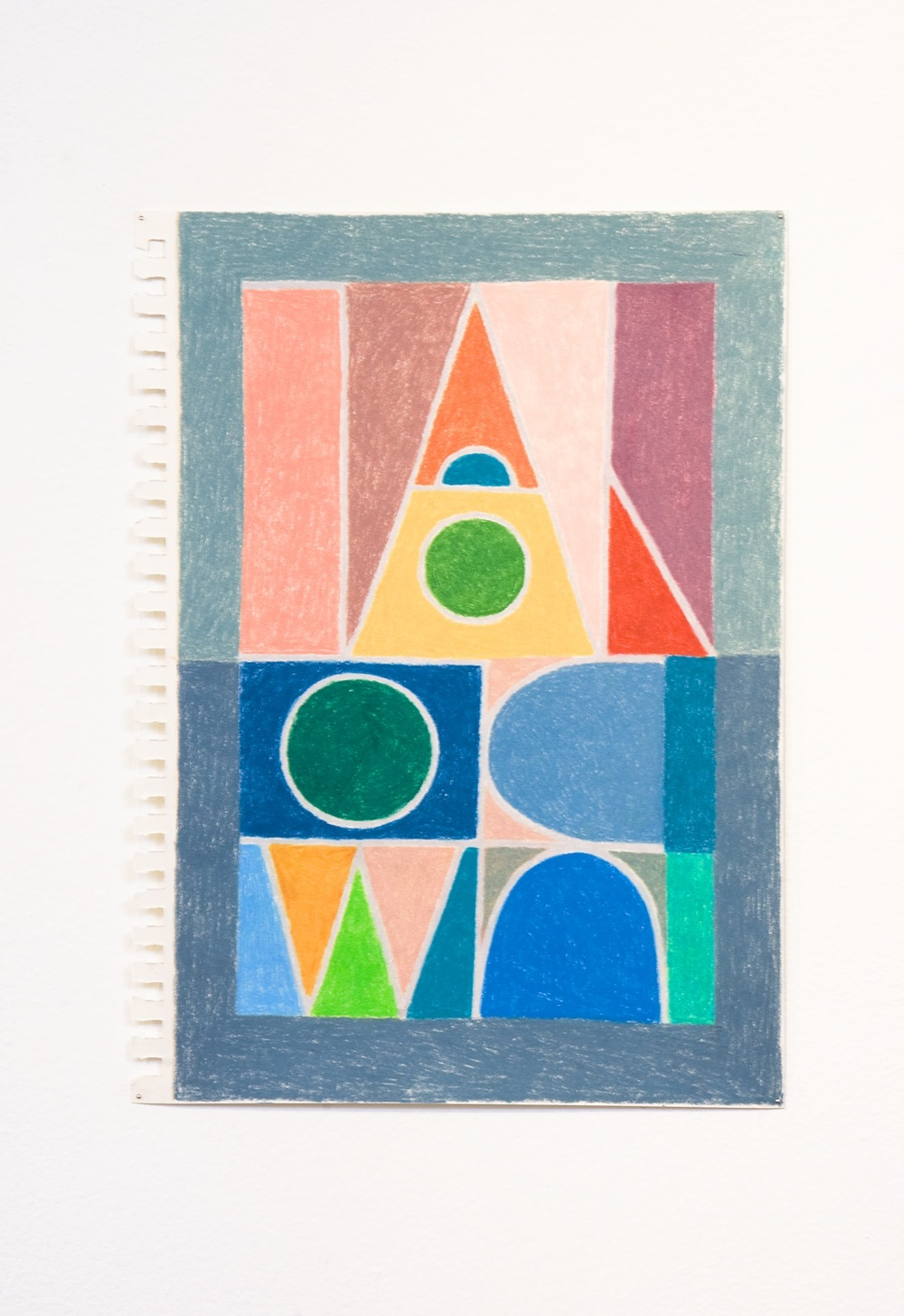 "Elijah Burgher Kaspar Hauser 2009 Colored pencil on paper 12"" x 8"" EB002"