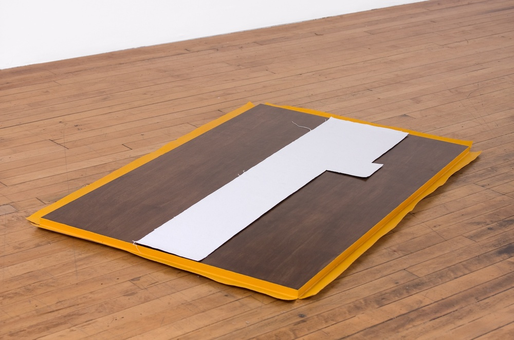 Lisa Williamson  Low and Horizontal, Floor Plan  2009 Acrylic and canvas on wood 51 ½h x 33w x 1d in LW007