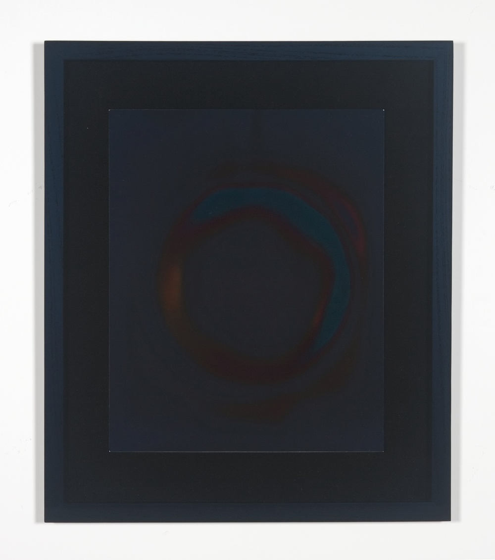 "Shane Huffman Looking for Cosmic Background Radiation in My Microwave 2008-2009 Framed silver gelatin print 14"" x 11"""