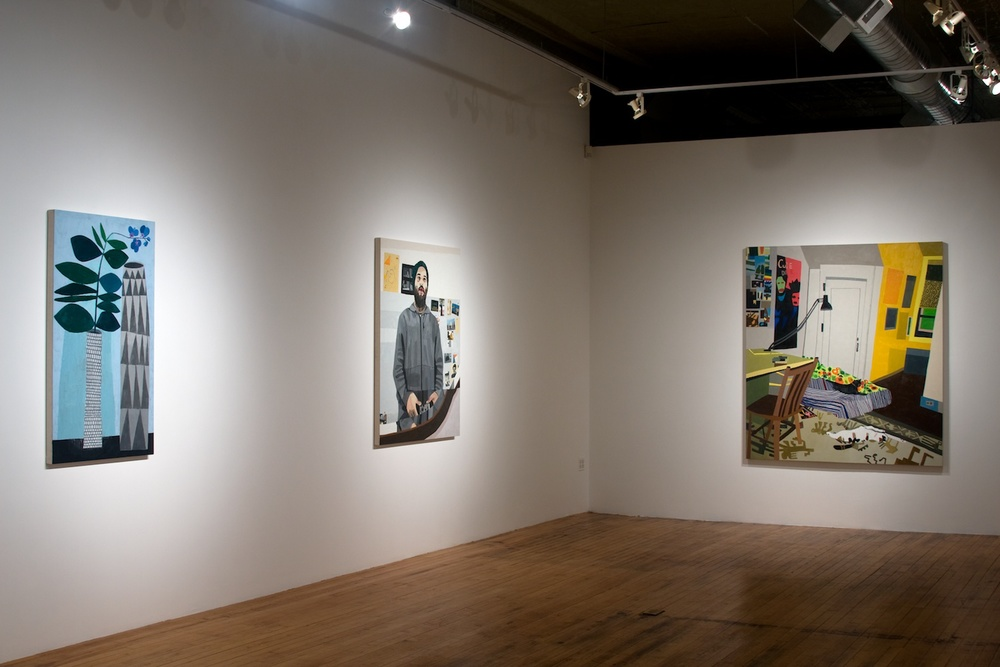 Jonas Wood 2009 Shane Campbell Gallery, Chicago Installation View