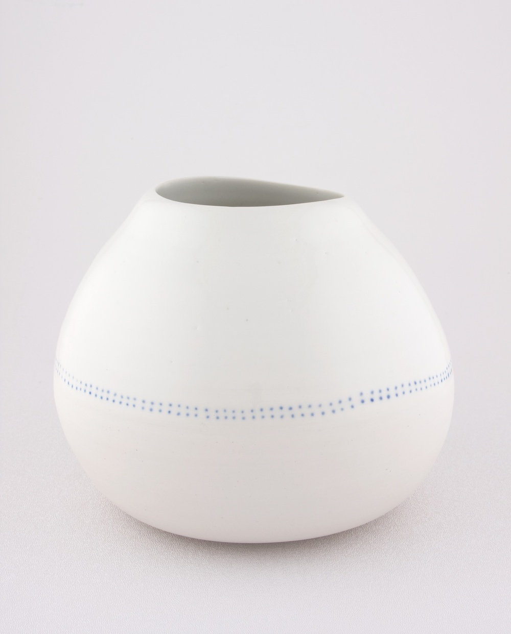 "Shio Kusaka Untitled (blue dot chubby) 2009 Porcelain 6 1/8"" x 6 1/2"" SK054"