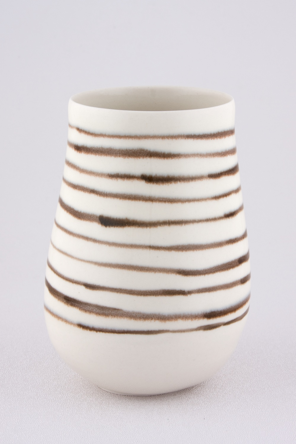 "Shio Kusaka Untitled (black stripe 2) 2009 Porcelain 5 3/4"" x 4"" SK040"