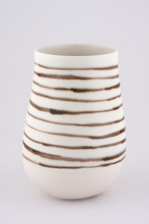 Shio Kusaka  Untitled (black stripe 2)  2009 Porcelain 5 ¾h x 4w in SK040