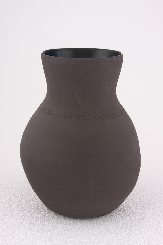 Shio Kusaka  Untitled (black dot 3)  2009 Stoneware 7h x 5 ½w in SK038