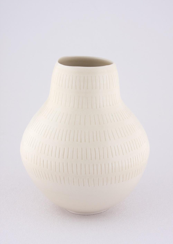 """Shio Kusaka Untitled (yayoi carving 3) 2009 Porcelain 7 1/4"""" x 6 1/4"""" SK029"""