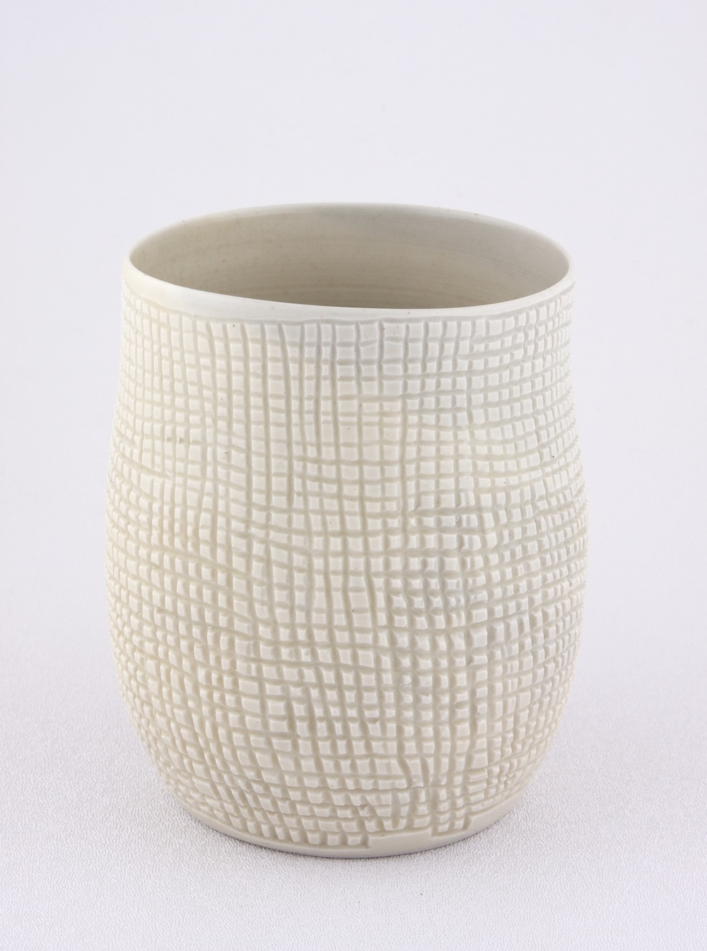 "Shio Kusaka Untitled (grid 2mm) 2009 Porcelain 5 1/2"" x 3 1/2"" SK028"