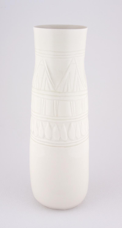 """Shio Kusaka Untitled (marble carving 1) 2009 Porcelain 10"""" x 5 1/2"""" x 5 1/2"""" SK025"""