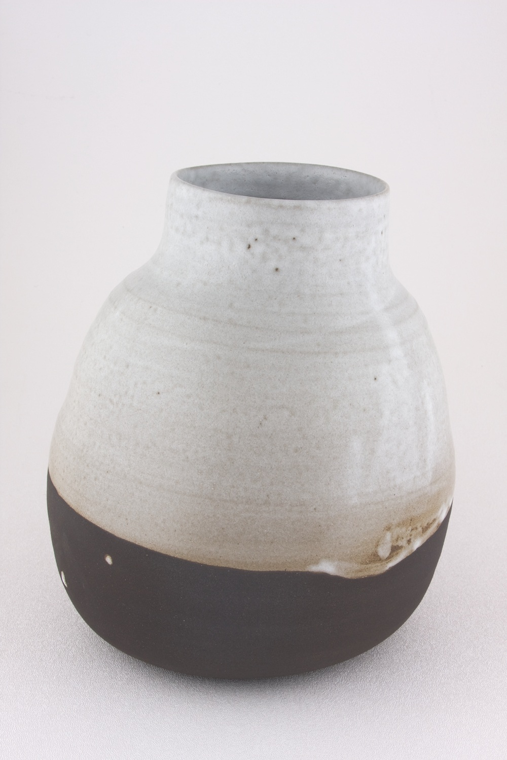 "Shio Kusaka Untitled (black and white 1) 2009 Stoneware 9 1/4"" x 8 1/2"" SK026"