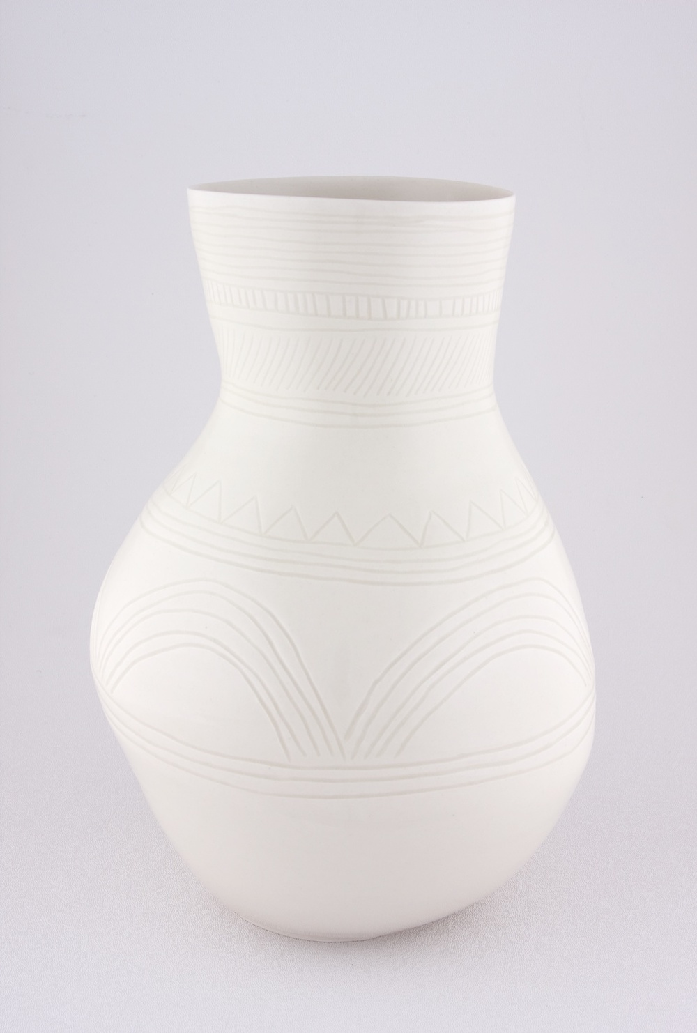 """Shio Kusaka Untitled (yayoi carving 1) 2009 Porcelain 10 3/4"""" x 7 1/2"""" SK024"""