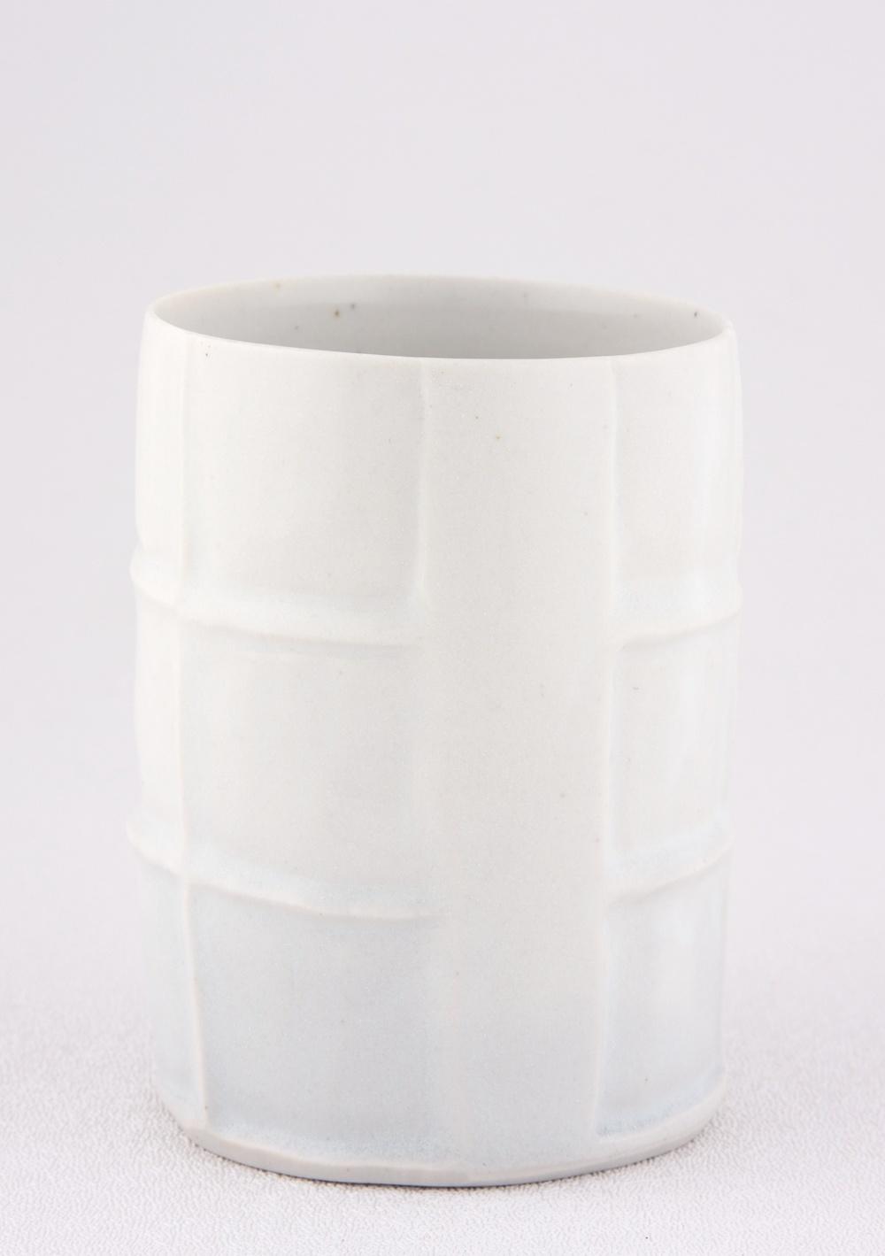 "Shio Kusaka Untitled (cup) 2009 Porcelain 3 5/8"" x 2 3/4"" x 2 3/4"" SK017"