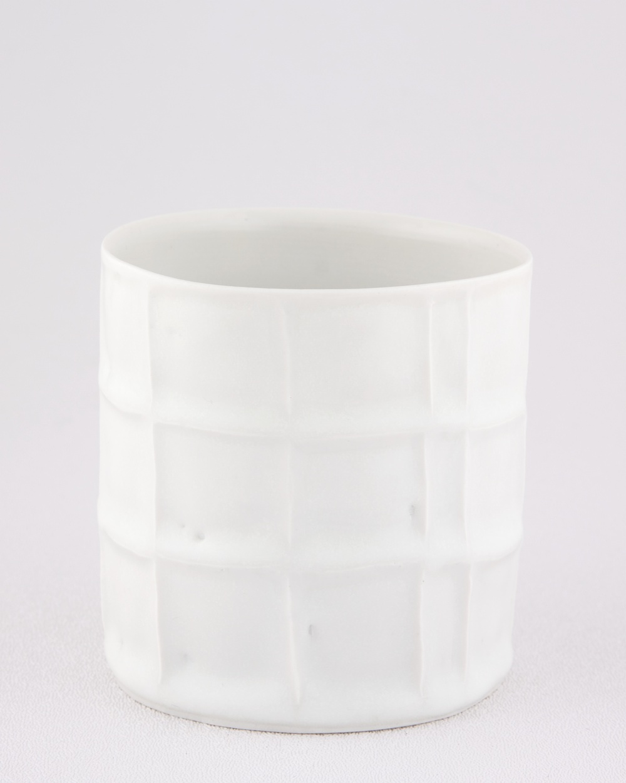 "Shio Kusaka Untitled (cup) 2009 Porcelain 3 3/8"" x 3 1/8"" SK015"