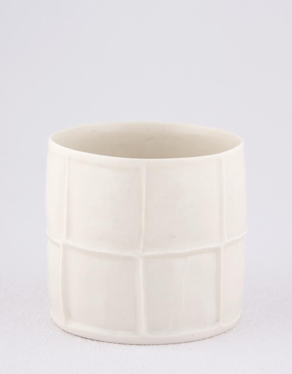 "Shio Kusaka Untitled (cup) 2009 Porcelain 2 3/4"" x 3"" SK014"