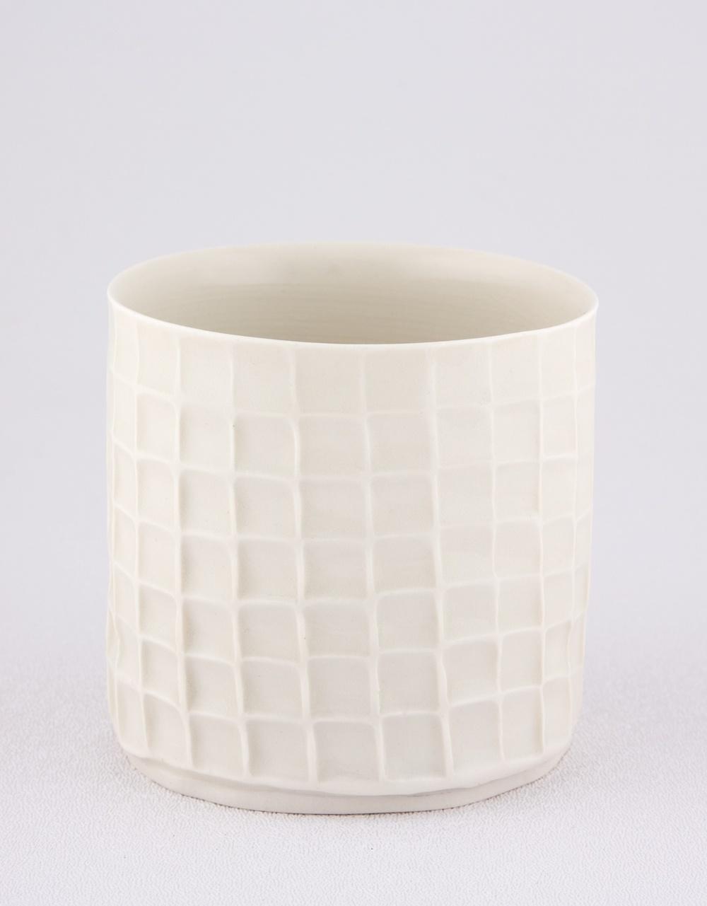 "Shio Kusaka Untitled (cup) 2009 Porcelain 3 1/4"" x 3 1/4"" SK010"