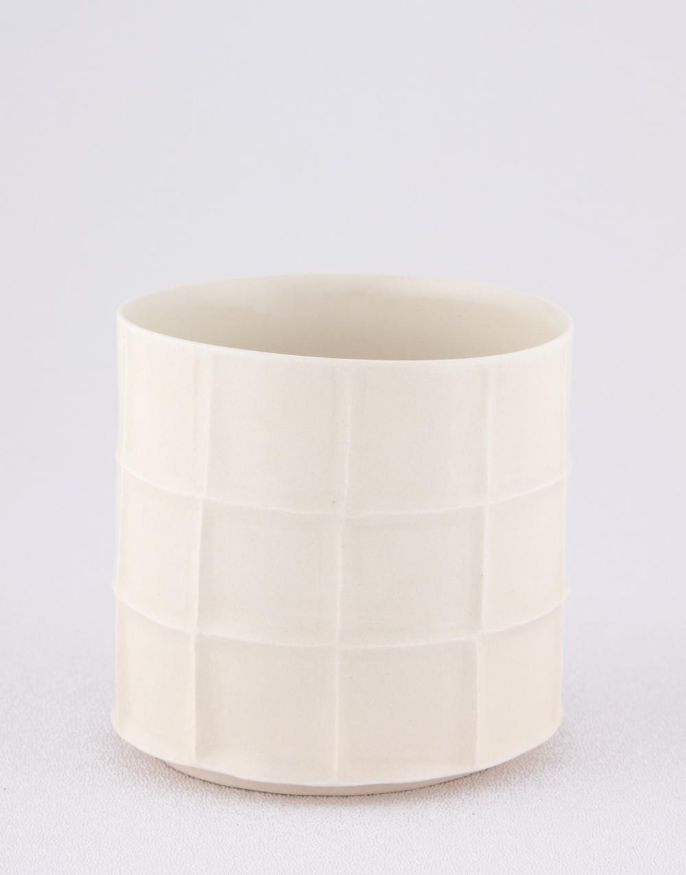 "Shio Kusaka Untitled (cup) 2009 Porcelain 3 1/8"" x 3 1/4"" SK012"