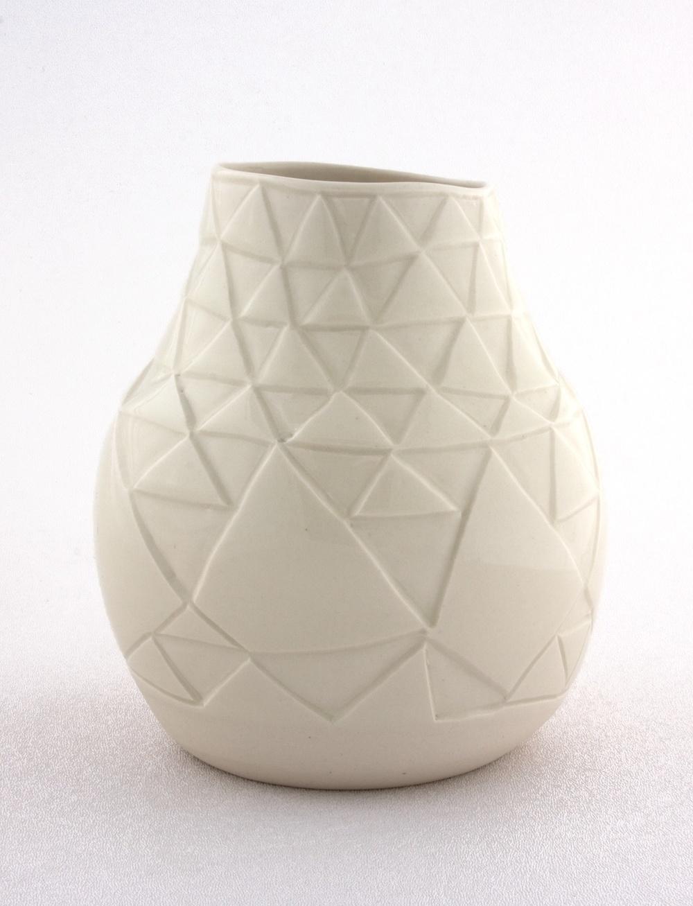 """Shio Kusaka Untitled (triangle 1) 2009 Stoneware 7"""" x 5"""" SK004"""