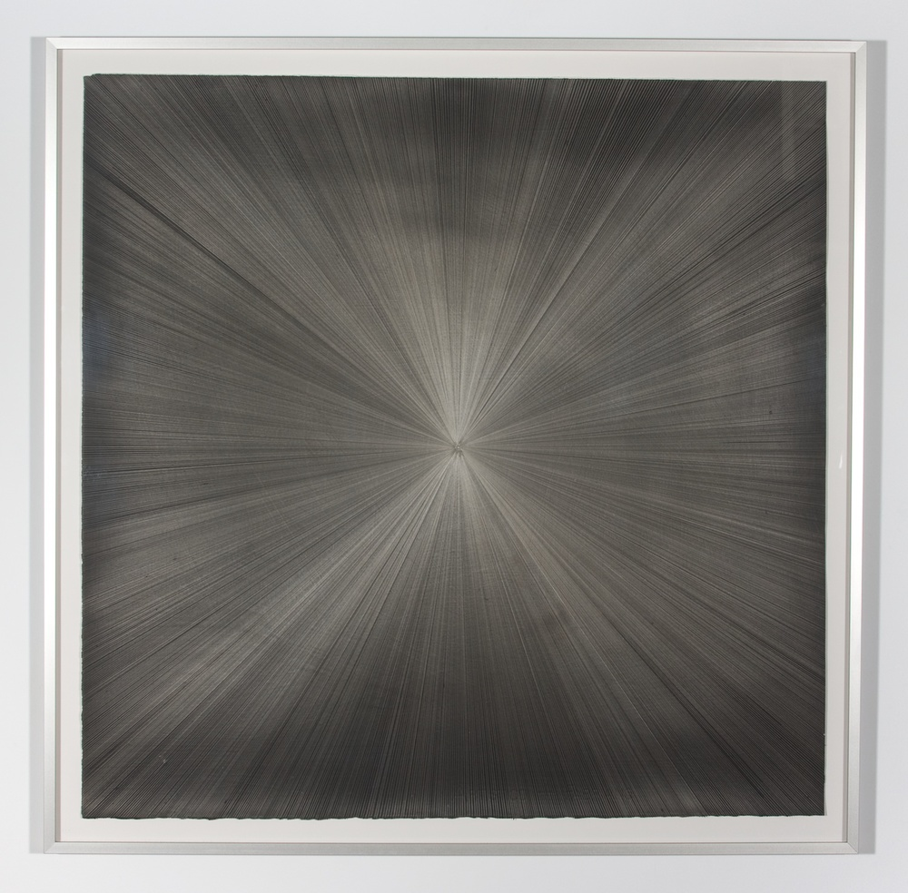 "Michelle Grabner Untitled 2008 Silver and gesso on paper 55"" x 55"" MGrab150"