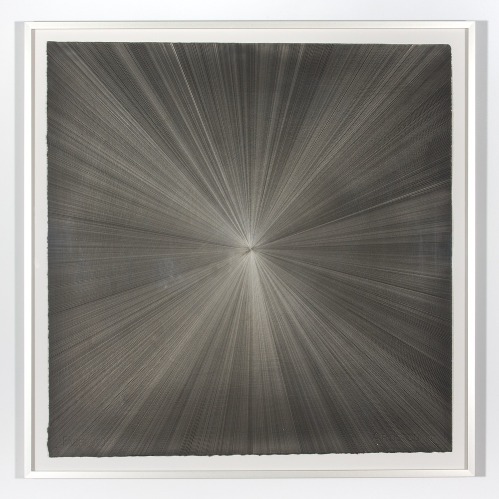 "Michelle Grabner Untitled 2008 Silver and gesso on paper 55"" x 55"" MGrab146"