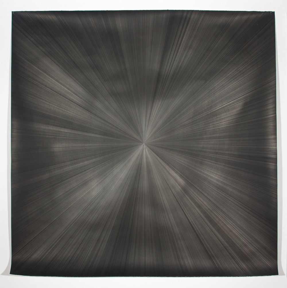 "Michelle Grabner Untitled 2008 Silver and gesso on paper 55"" x 55"" MGrab145"
