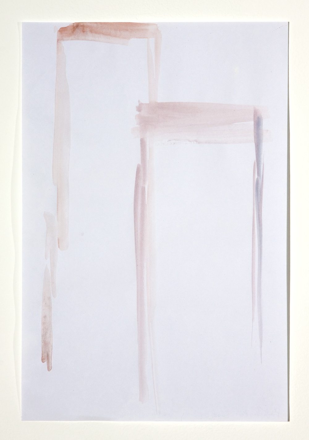 "Hayley Tompkins Re 2008 Gouache on paper 11 3/4"" x 7"""