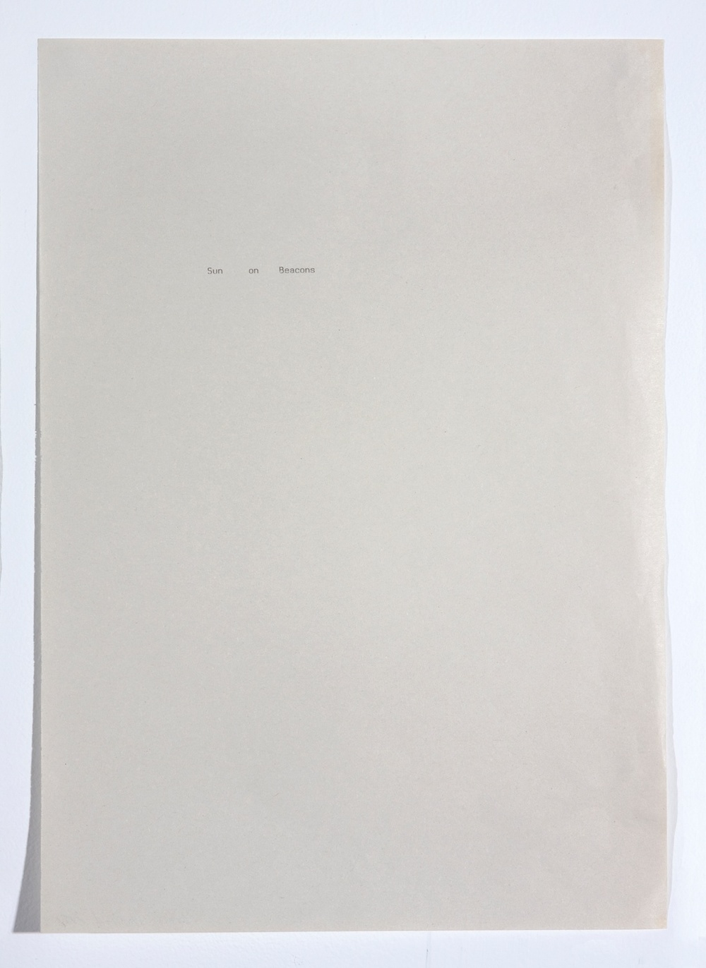 "Sue Tompkins Untitled 2008 Type on paper 11"" x 8 1/2"""