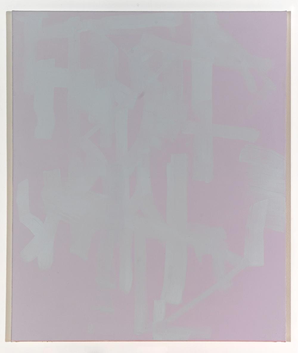 "Zak Prekop Untitled (Purple and Grey) 2008 Oil on canvas 28"" x 24"" ZP006"