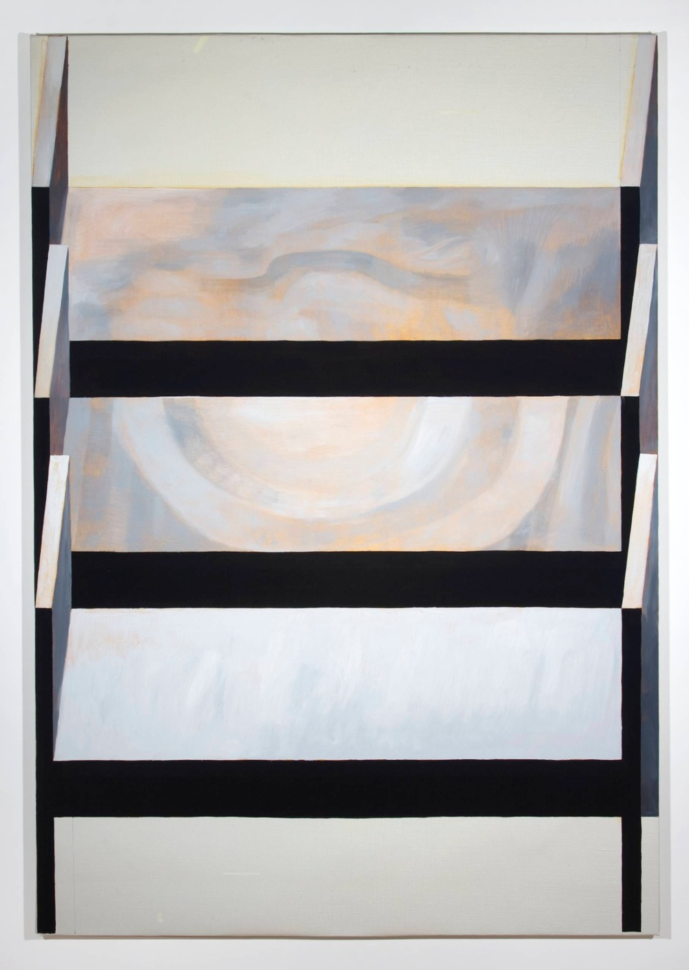"Jesse Chapman The Beds 2008 Oil on linen 75"" x 52"""