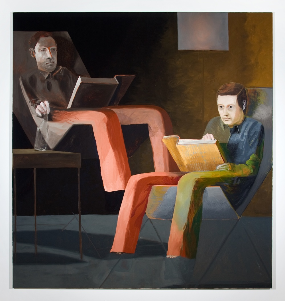 Jesse Chapman  The Principles of Psychology  2008 Oil on linen 71h x 67w in JC015