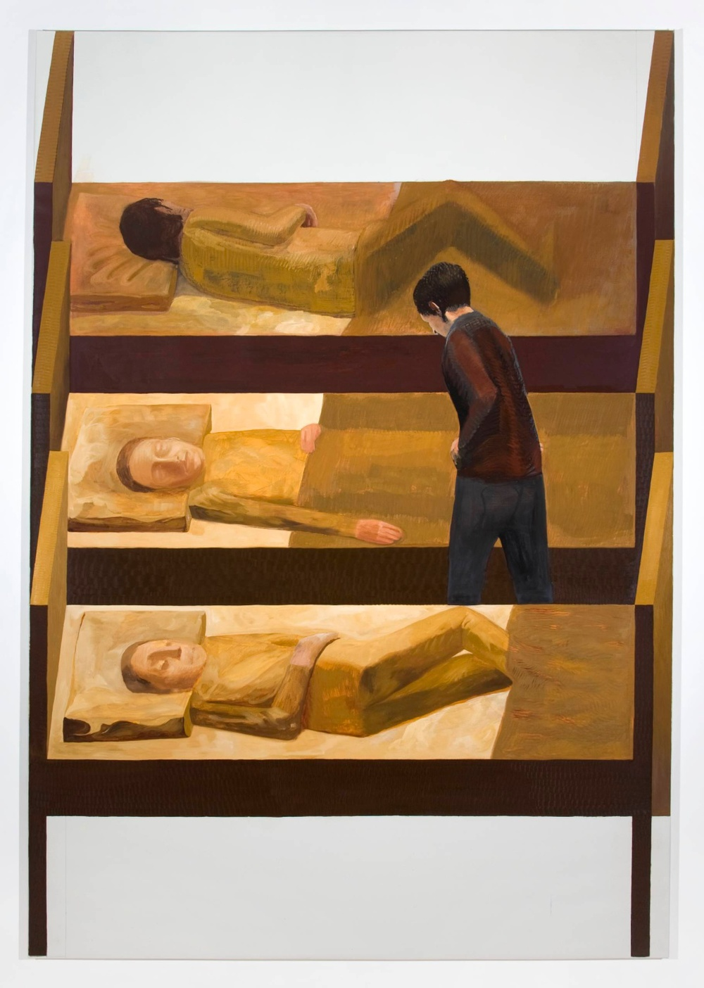 "Jesse Chapman The Beds 2008 Oil on linen 97"" x 67"""